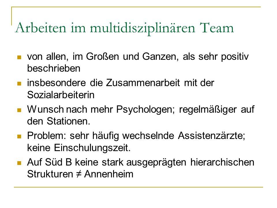 Arbeiten im multidisziplinären Team