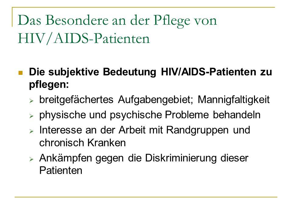 Das Besondere an der Pflege von HIV/AIDS-Patienten