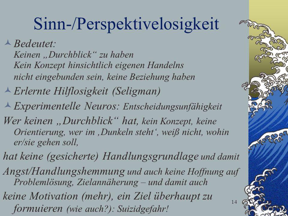 Sinn-/Perspektivelosigkeit