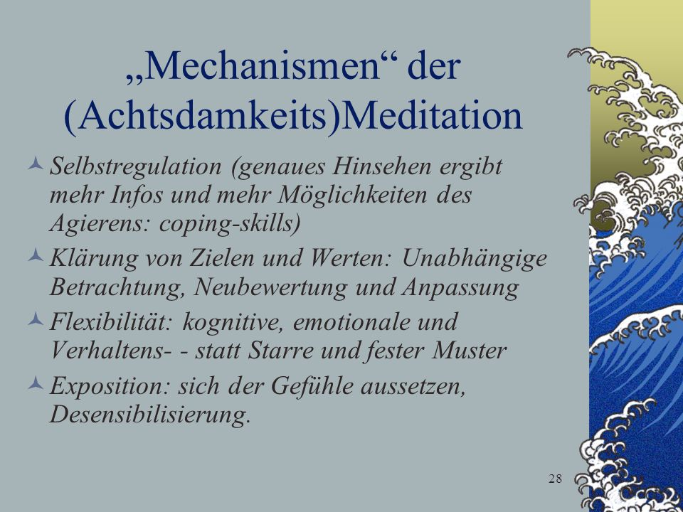 """Mechanismen der (Achtsdamkeits)Meditation"