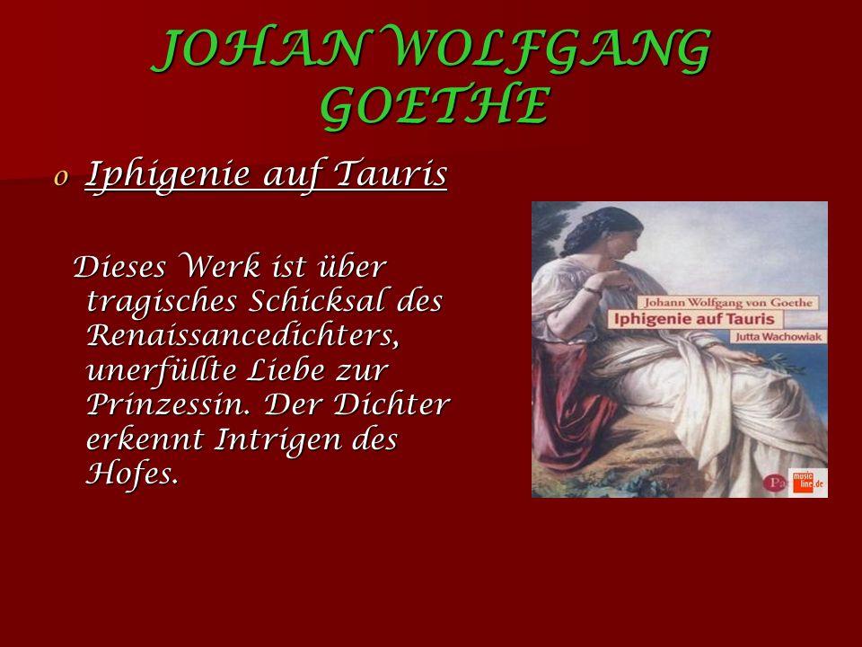 JOHAN WOLFGANG GOETHE Iphigenie auf Tauris