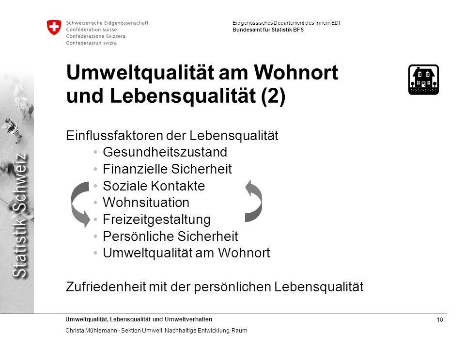 Umweltqualität am Wohnort und Lebensqualität (2)