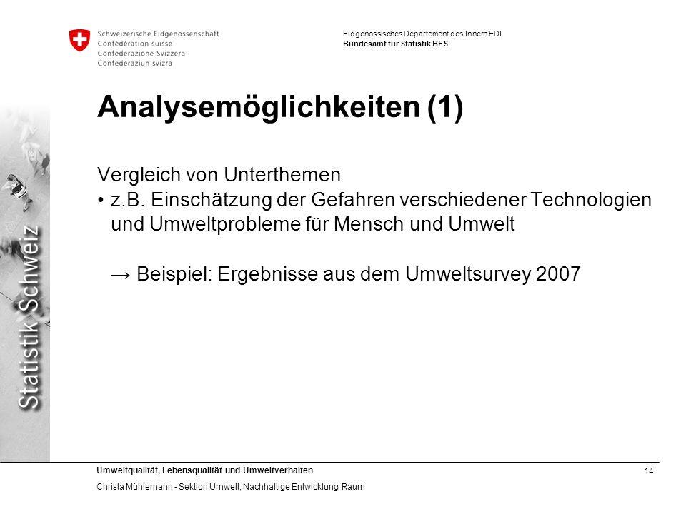 Analysemöglichkeiten (1)