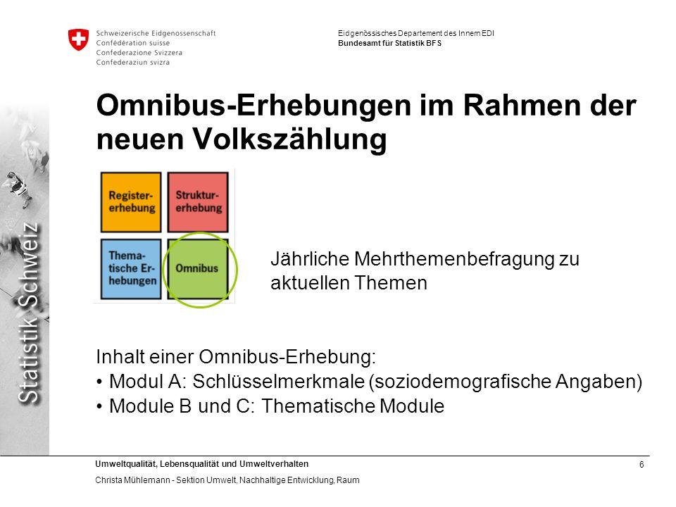 Omnibus-Erhebungen im Rahmen der neuen Volkszählung