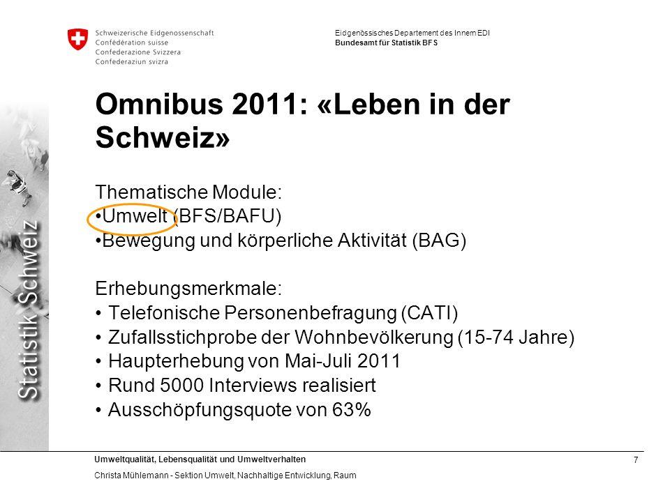 Omnibus 2011: «Leben in der Schweiz»