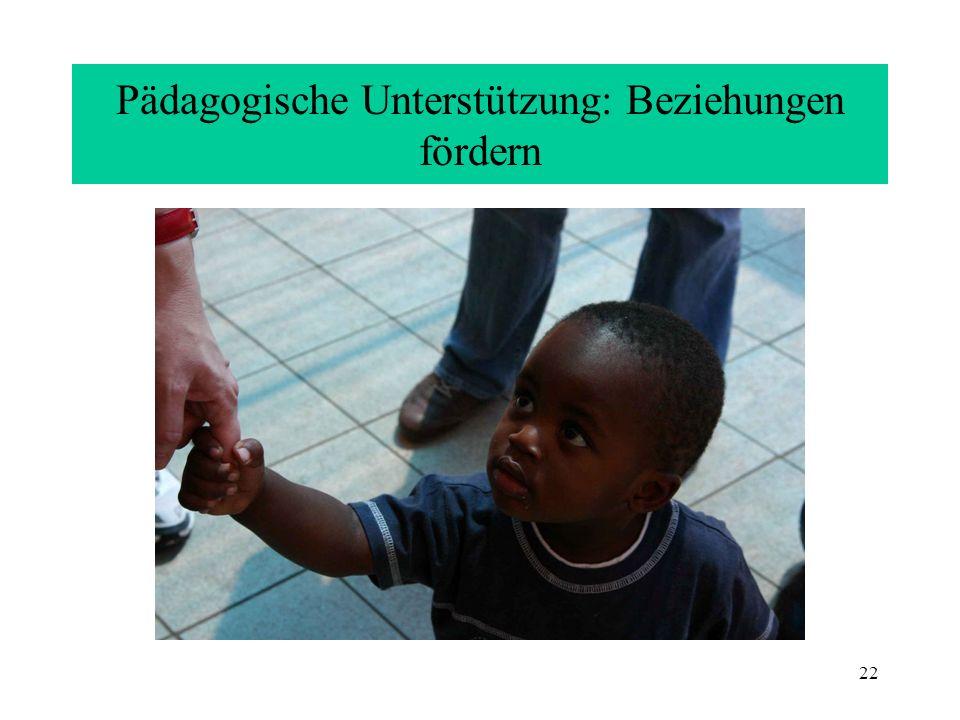 Pädagogische Unterstützung: Beziehungen fördern