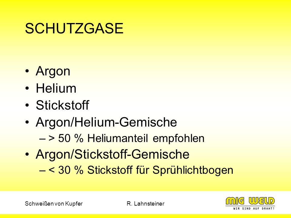 SCHUTZGASE Argon Helium Stickstoff Argon/Helium-Gemische