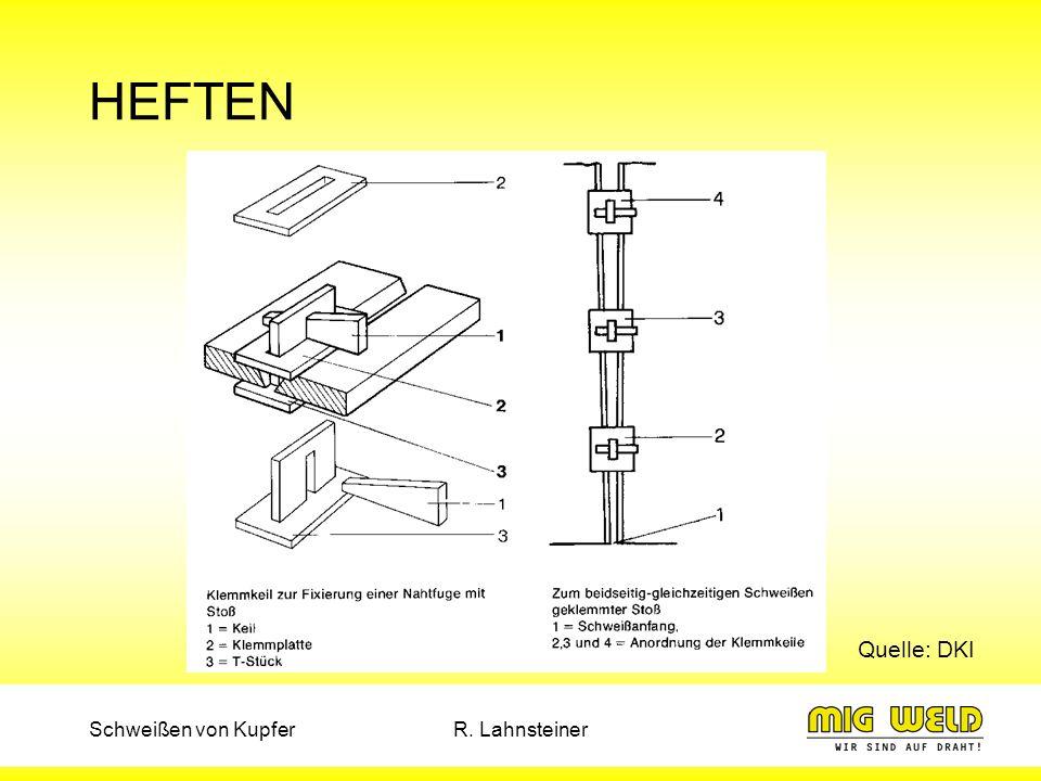 HEFTEN Quelle: DKI Schweißen von Kupfer R. Lahnsteiner
