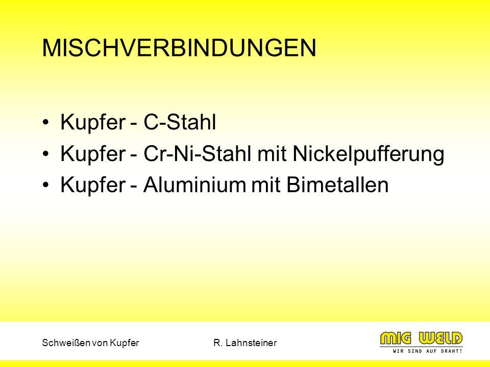 MISCHVERBINDUNGEN Kupfer - C-Stahl