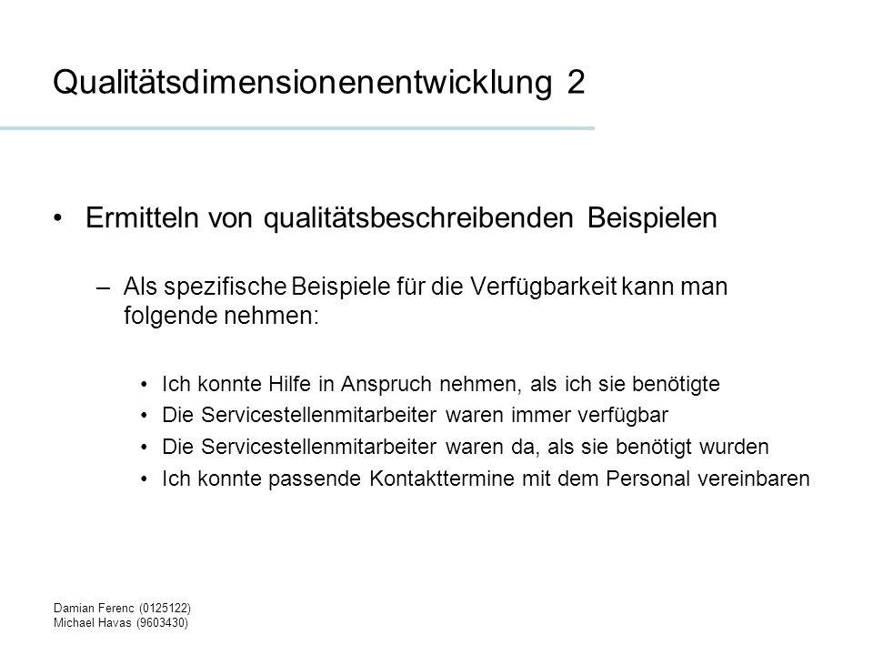 Qualitätsdimensionenentwicklung 2