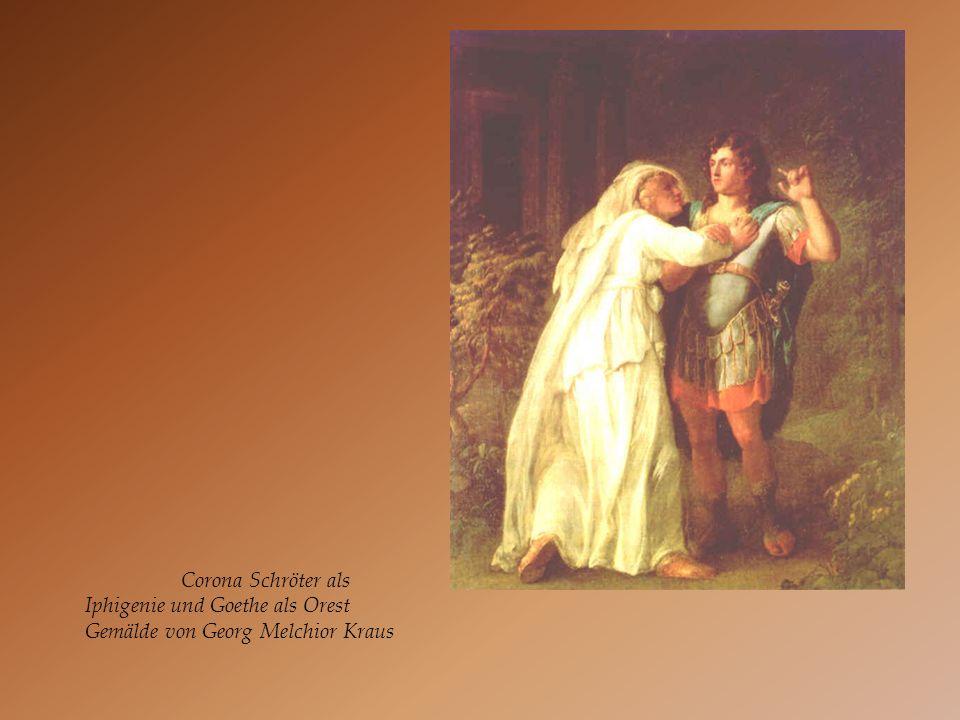 Corona Schröter als Iphigenie und Goethe als Orest Gemälde von Georg Melchior Kraus