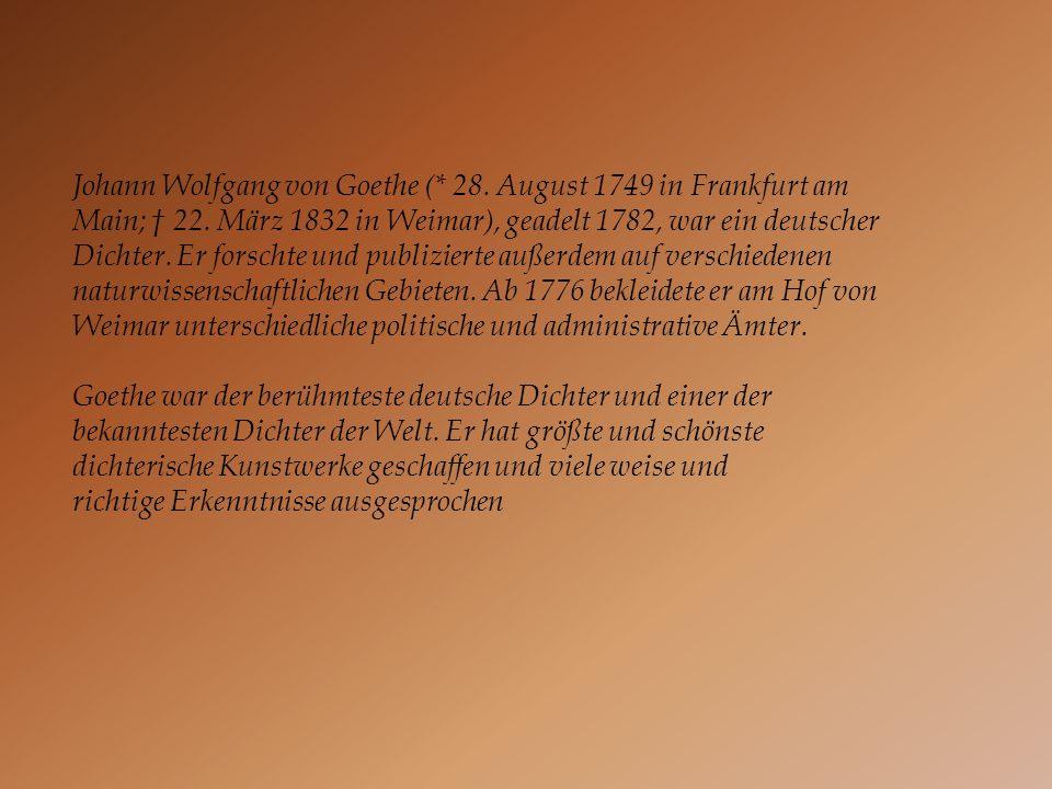 Johann Wolfgang von Goethe (. 28