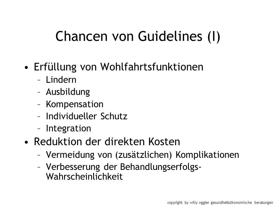 Chancen von Guidelines (I)