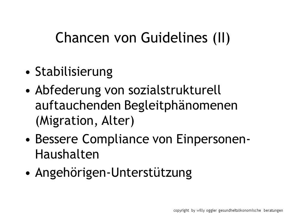 Chancen von Guidelines (II)