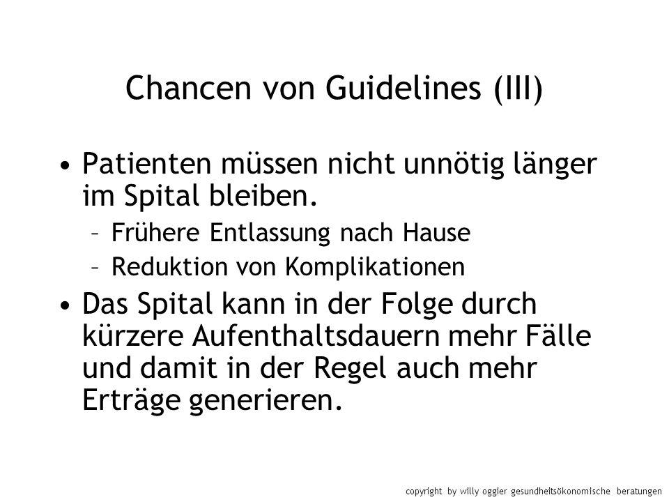 Chancen von Guidelines (III)