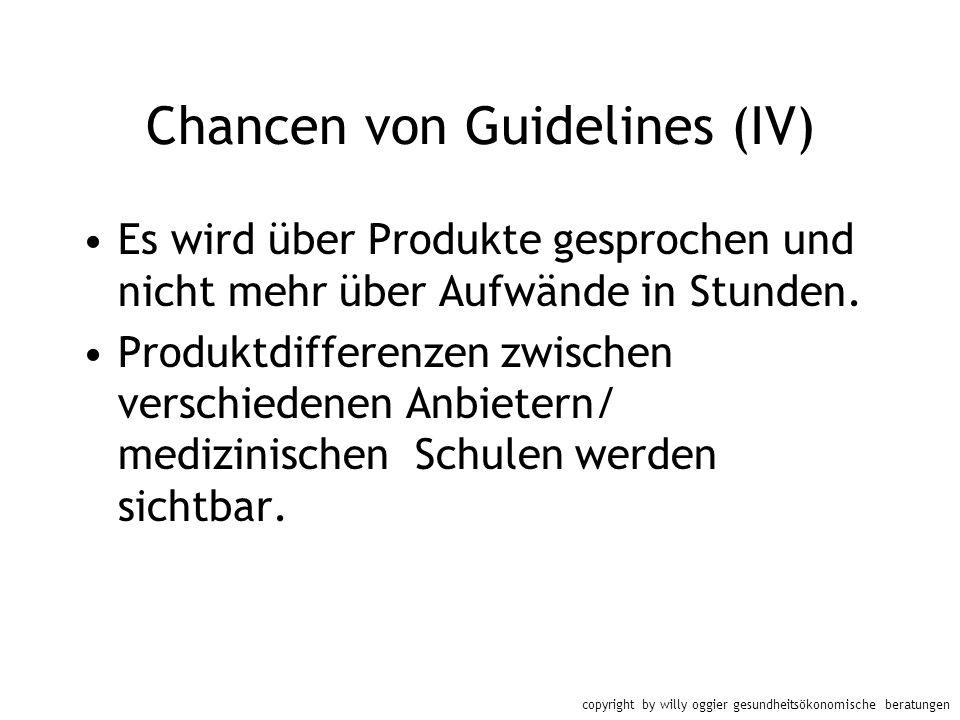 Chancen von Guidelines (IV)