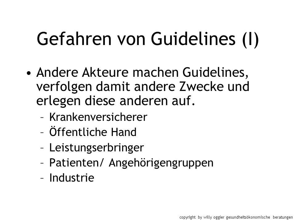 Gefahren von Guidelines (I)