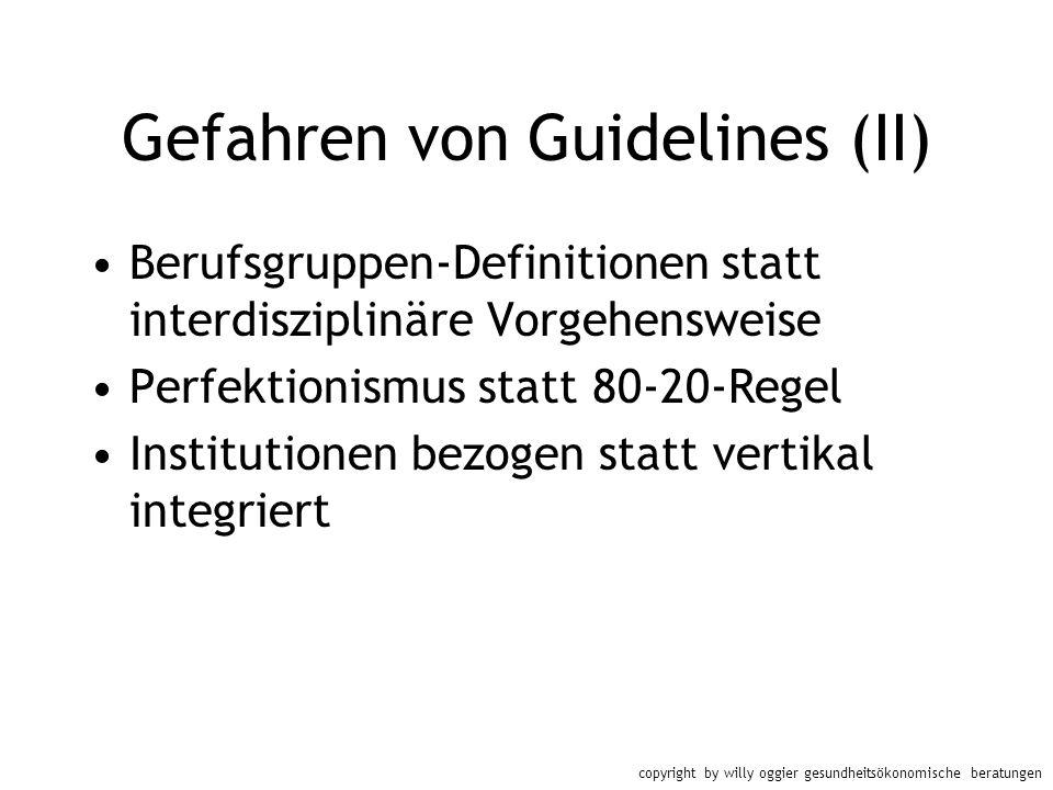Gefahren von Guidelines (II)