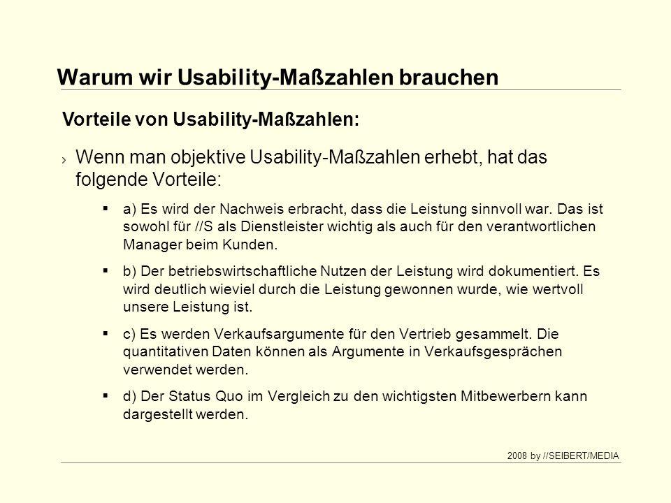 Warum wir Usability-Maßzahlen brauchen