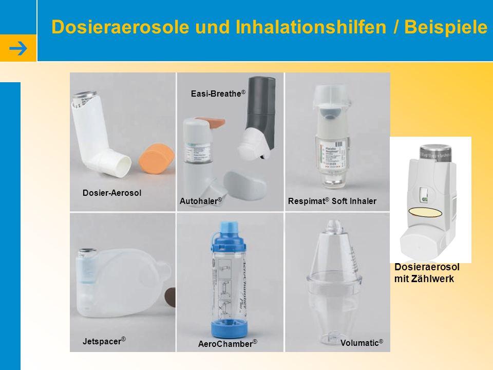 Dosieraerosole und Inhalationshilfen / Beispiele