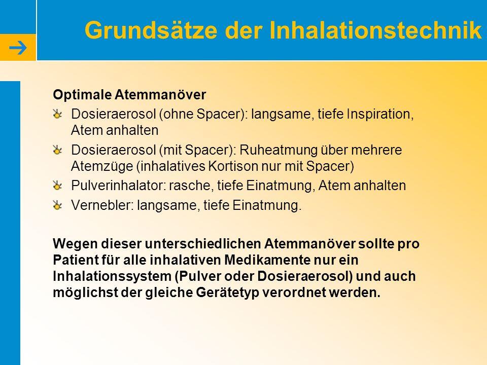 Grundsätze der Inhalationstechnik