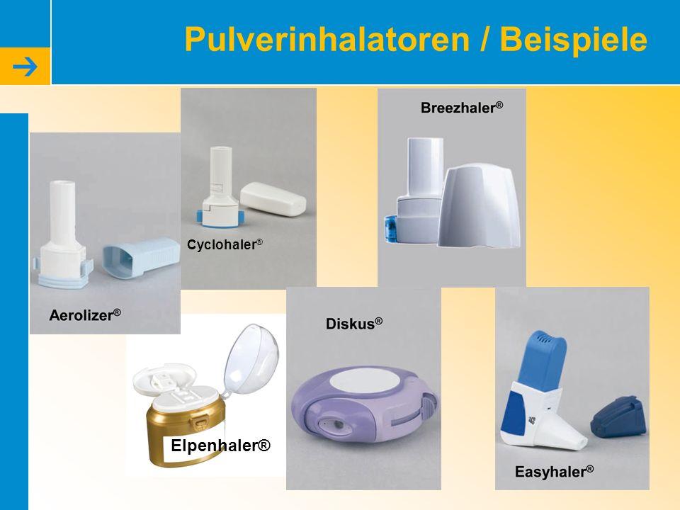 Pulverinhalatoren / Beispiele