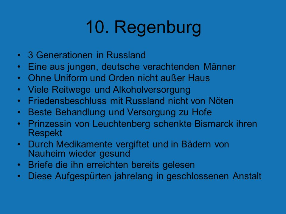 10. Regenburg 3 Generationen in Russland