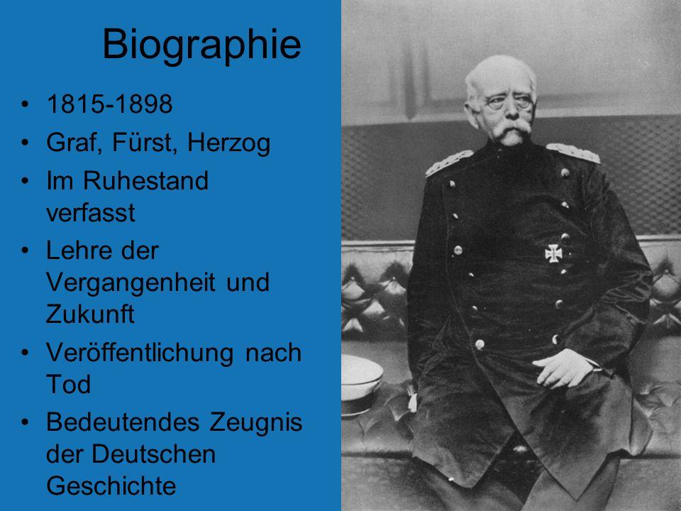 Biographie 1815-1898 Graf, Fürst, Herzog Im Ruhestand verfasst