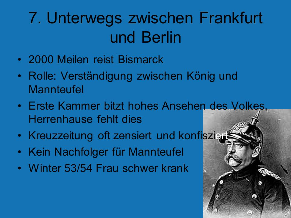 7. Unterwegs zwischen Frankfurt und Berlin