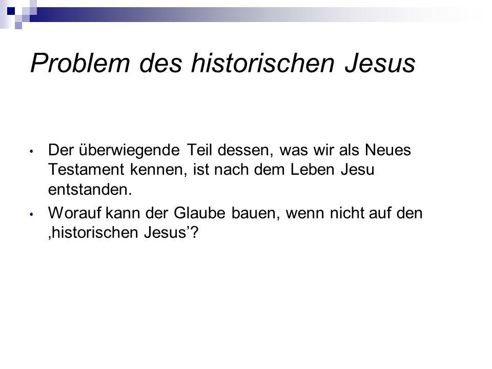 Problem des historischen Jesus