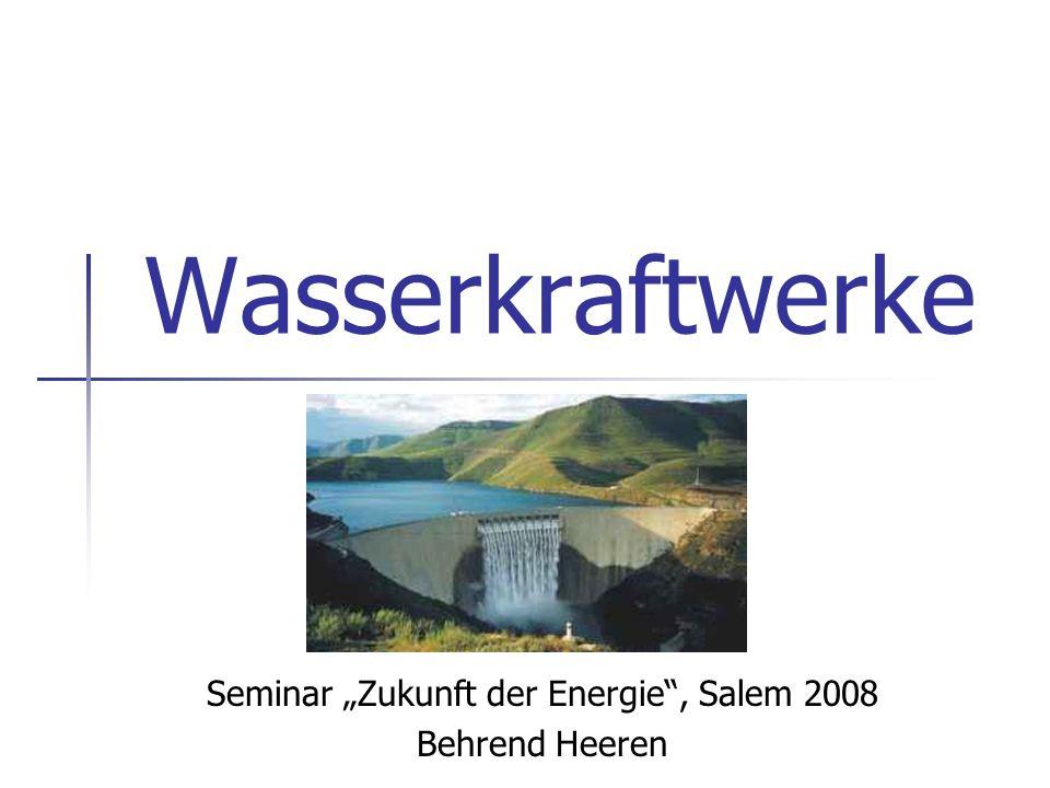"""Seminar """"Zukunft der Energie , Salem 2008 Behrend Heeren"""