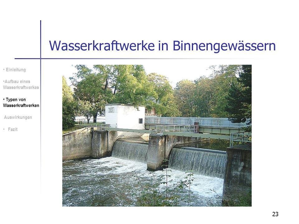 Wasserkraftwerke in Binnengewässern