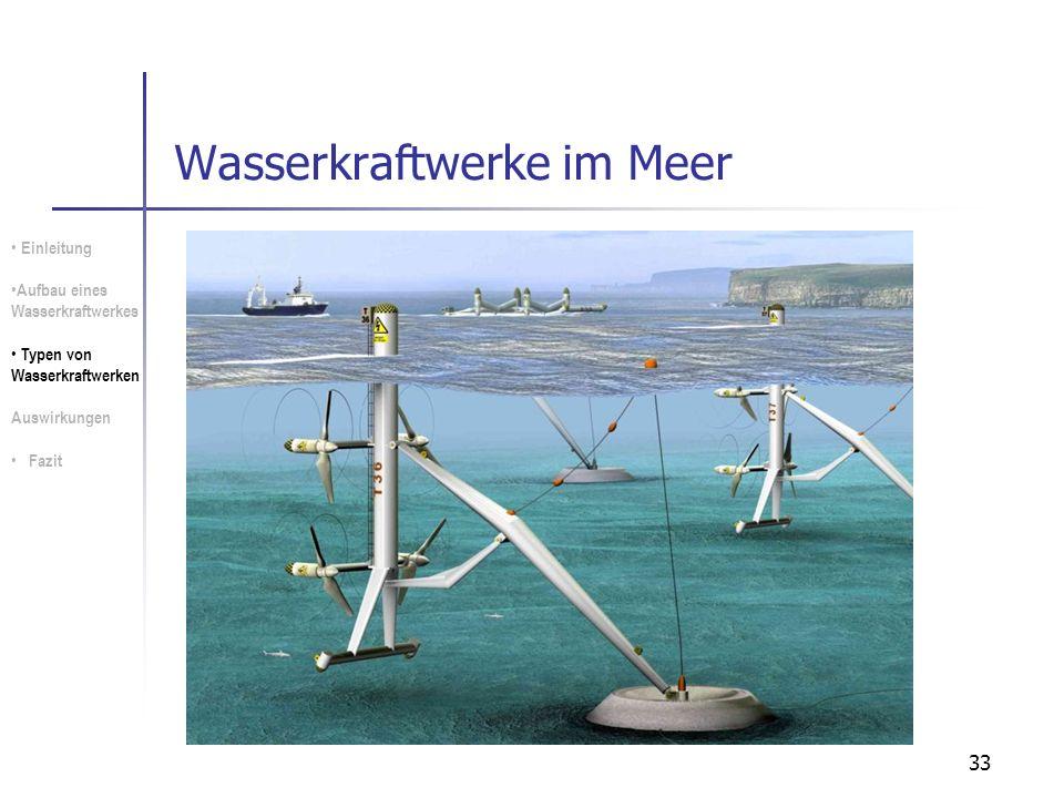 Wasserkraftwerke im Meer
