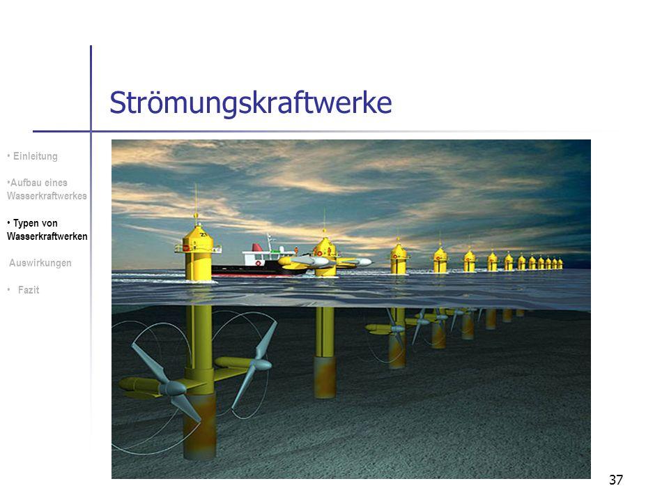 Strömungskraftwerke Einleitung Aufbau eines Wasserkraftwerkes