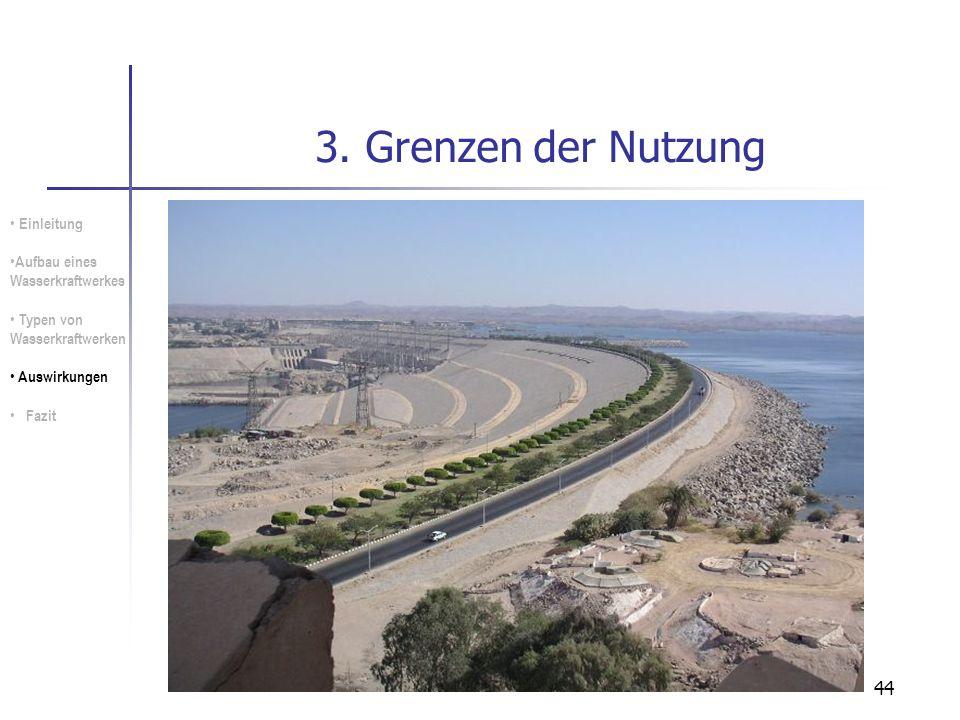 3. Grenzen der Nutzung Einleitung Aufbau eines Wasserkraftwerkes