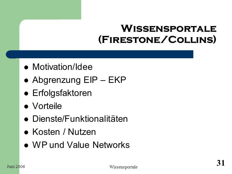 Wissensportale (Firestone/Collins)