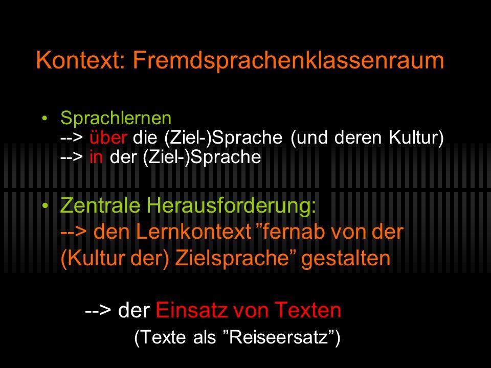 Kontext: Fremdsprachenklassenraum