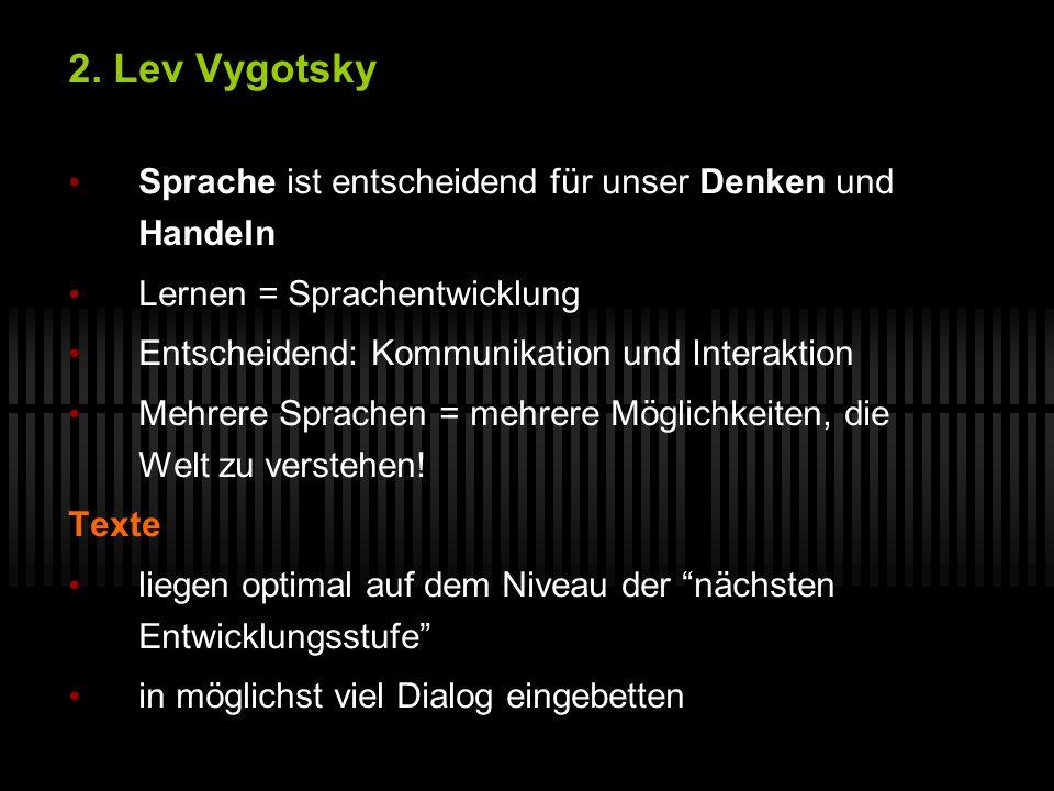 2. Lev Vygotsky Sprache ist entscheidend für unser Denken und Handeln
