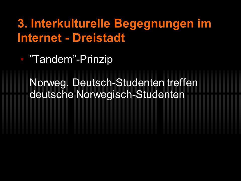 3. Interkulturelle Begegnungen im Internet - Dreistadt