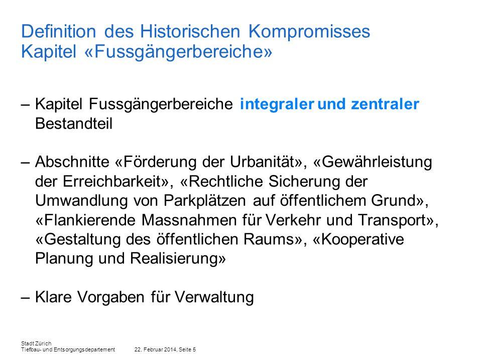 Definition des Historischen Kompromisses Kapitel «Fussgängerbereiche»