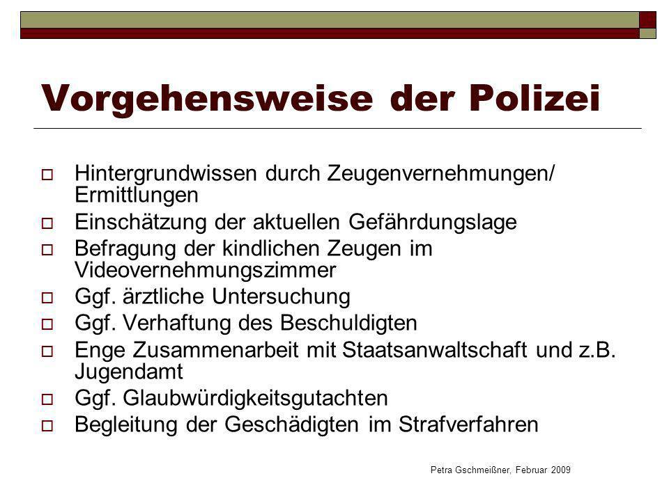 Vorgehensweise der Polizei