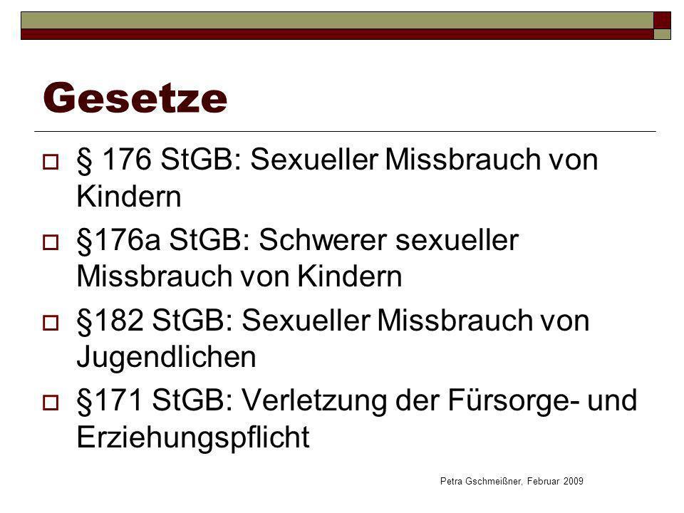 Gesetze § 176 StGB: Sexueller Missbrauch von Kindern