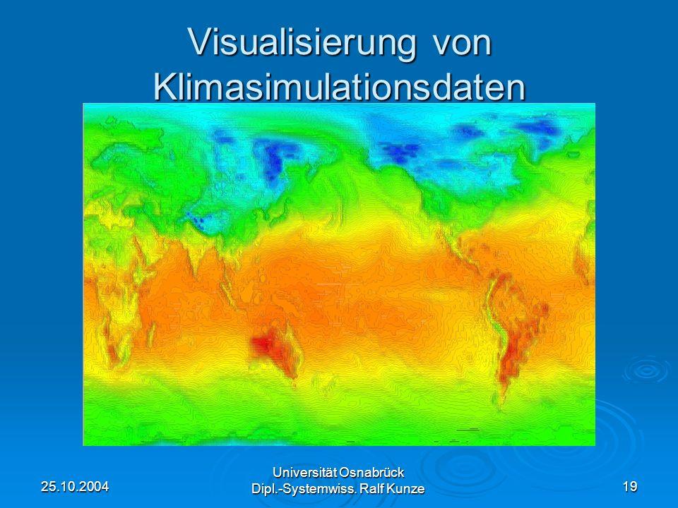 Visualisierung von Klimasimulationsdaten