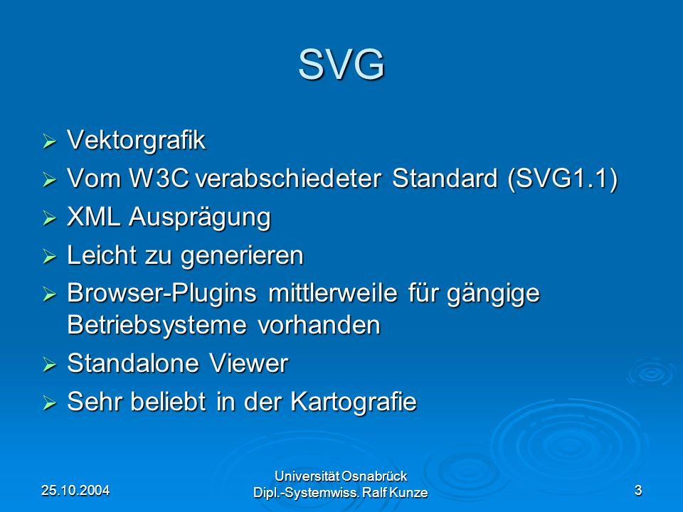 SVG Vektorgrafik Vom W3C verabschiedeter Standard (SVG1.1)