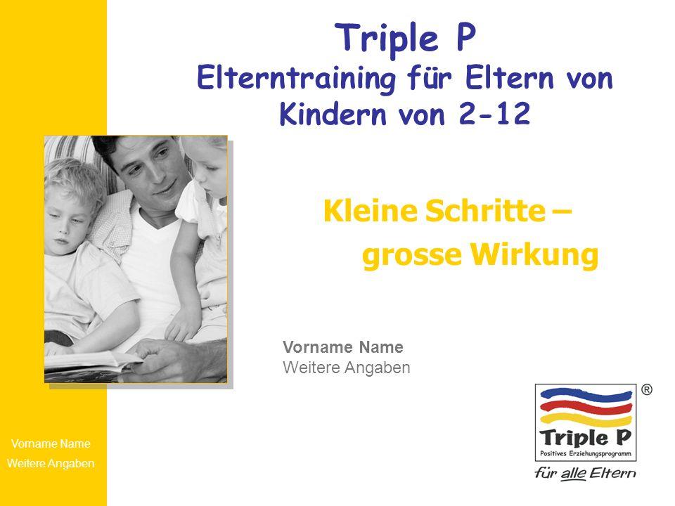 Triple P Elterntraining für Eltern von Kindern von 2-12