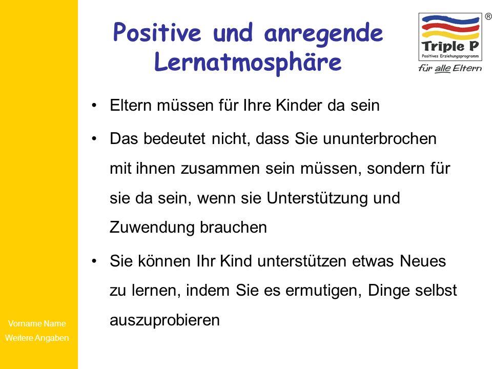 Positive und anregende Lernatmosphäre