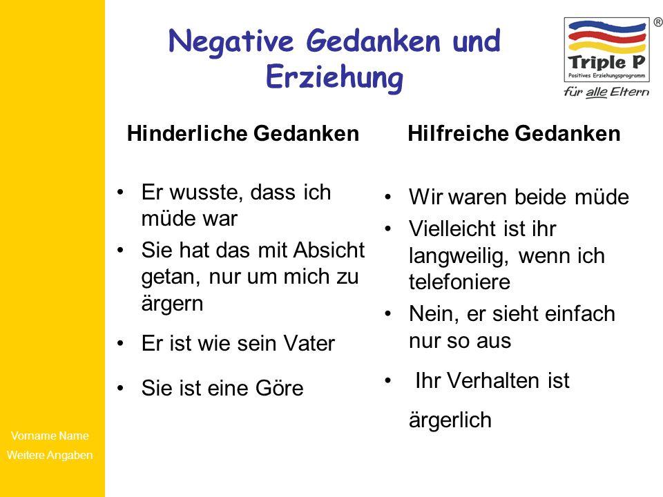 Negative Gedanken und Erziehung