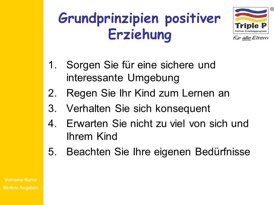 Grundprinzipien positiver Erziehung