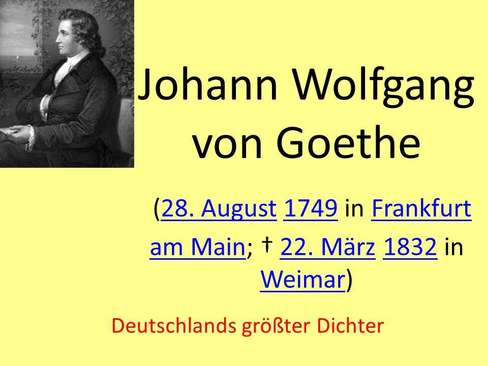 Deutschlands größter Dichter