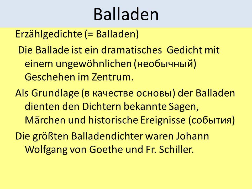 Balladen Erzählgedichte (= Balladen)